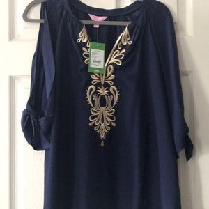NWT Lilly Pulitzer Bryce Top in True Navy